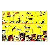 Cat circus Postcards