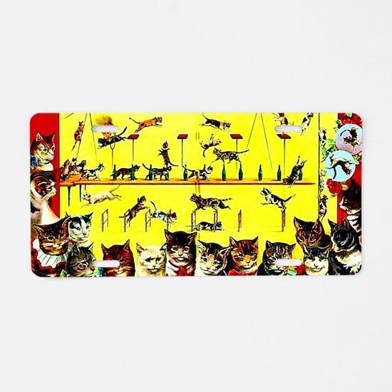 Vintage Cat Circus Act Aluminum License Plate