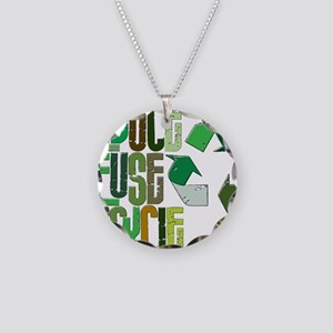 reduse reuse recycle Necklace Circle Charm