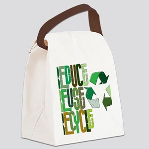 reduse reuse recycle Canvas Lunch Bag