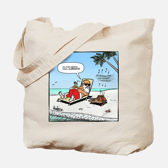 Santa on the Beach Final Tote Bag