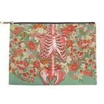 Skeleton Floral Makeup Pouch