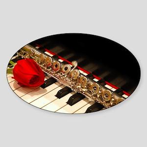 Flute Sticker (Oval)