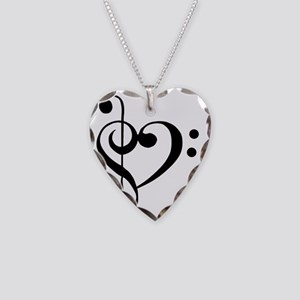 TrebleBassHeart Necklace Heart Charm