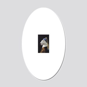 Bully With the Pearl Earring 20x12 Oval Wall Decal