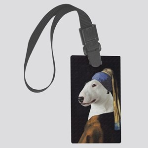 Bully With the Pearl Earring Large Luggage Tag