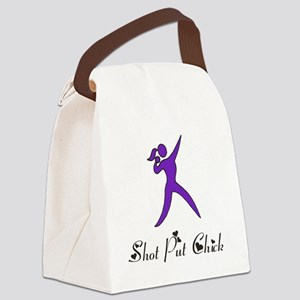 Shot Put Chick Canvas Lunch Bag