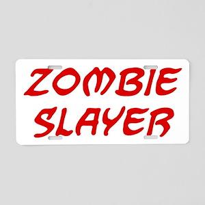 zombieSlayerR Aluminum License Plate