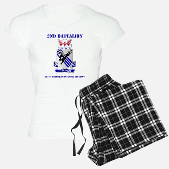 DUI- 2-505TH PIR WITH TEXT Pajamas