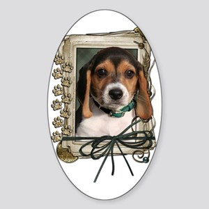 Stone_Paws_Beagle_Puppy Sticker (Oval)
