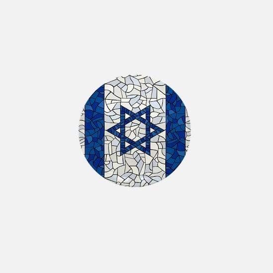 Israel Synagogue Tiffany Mini Button