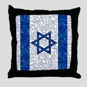 Israel Synagogue Tiffany Throw Pillow