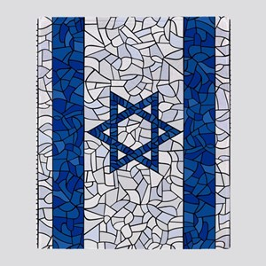 Israel Synagogue Tiffany Throw Blanket