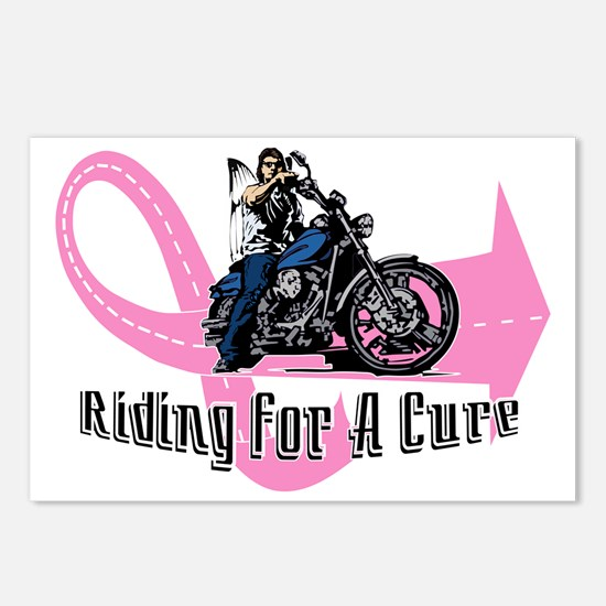Riding For A Cure_Front_1 Postcards (Package of 8)