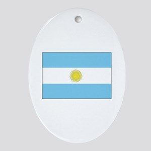 Argentina Flag Oval Ornament