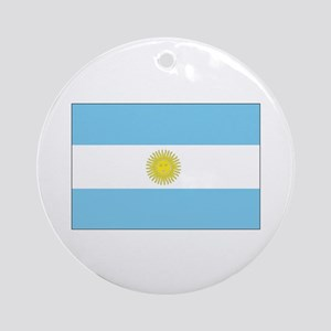 Argentina Flag Ornament (Round)