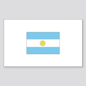 Argentina Flag Rectangle Sticker