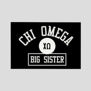 Chi Omega Big Sister Athletic Rectangle Magnet