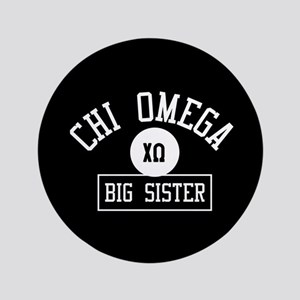 "Chi Omega Big Sister Athletic 3.5"" Button"
