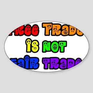 fair trade Sticker (Oval)
