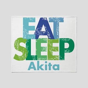 Eat Sleep Akita Throw Blanket