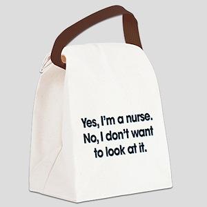 Yes I'm A Nurse Canvas Lunch Bag