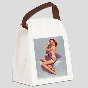 roxanne clock Canvas Lunch Bag