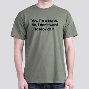 Yes I'm A Nurse Dark T-Shirt