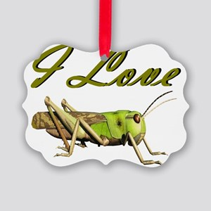 I love grasshoppers Picture Ornament