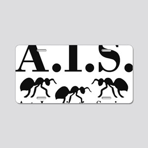 Ants Investigative Services Aluminum License Plate