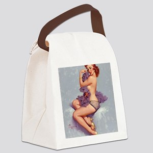 elvgren roxanne small poster Canvas Lunch Bag