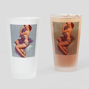 elvgren roxanne small poster Drinking Glass