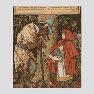 LITTLE RED RIDING HOOD Walter_Crane2 Throw Blanket