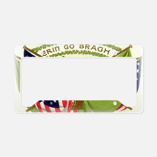 Erin Go Bragh Irish Flags License Plate Holder