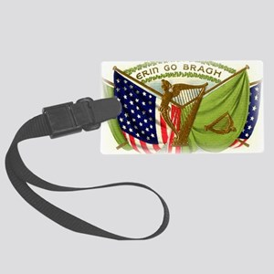 Erin Go Bragh Irish Flags Large Luggage Tag