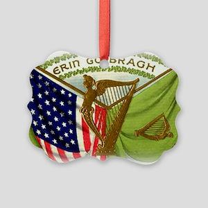 Erin Go Bragh Irish Flags Picture Ornament