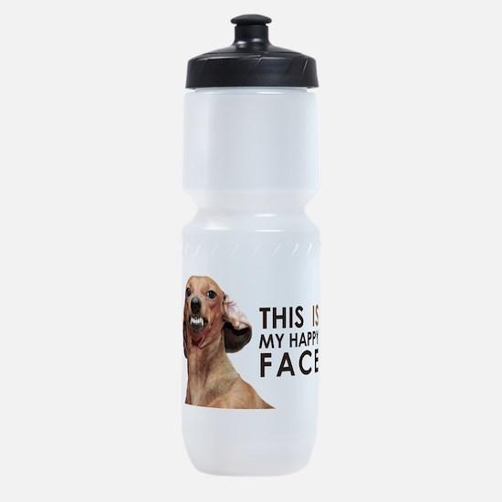 Happy Face Dachshund Sports Bottle