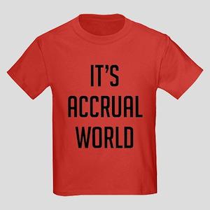 It's Accrual World Kids Dark T-Shirt