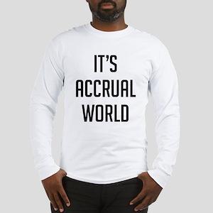It's Accrual World Long Sleeve T-Shirt
