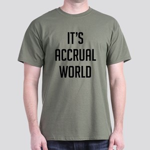 It's Accrual World Dark T-Shirt