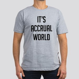 It's Accrual World Men's Fitted T-Shirt (dark)