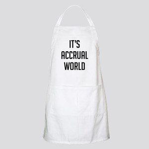 It's Accrual World Light Apron
