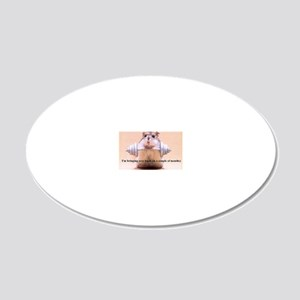hamster 20x12 Oval Wall Decal