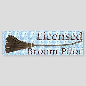 """Licensed Broom Pilot"" Bumper Sticker"