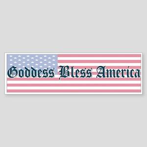 """""""Goddess Bless America"""" Bumper Sticker"""