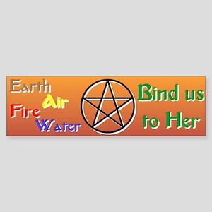 """The Elements Bind Us"" Bumper Sticker"