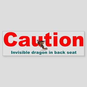 """""""Invisible Dragon"""" Bumper Sticker"""