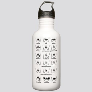 Moustache Chart Black Stainless Water Bottle 1.0L