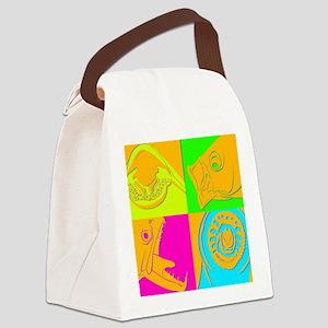 jawmorphneon Canvas Lunch Bag