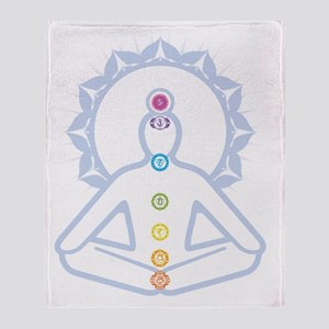 chakras Throw Blanket